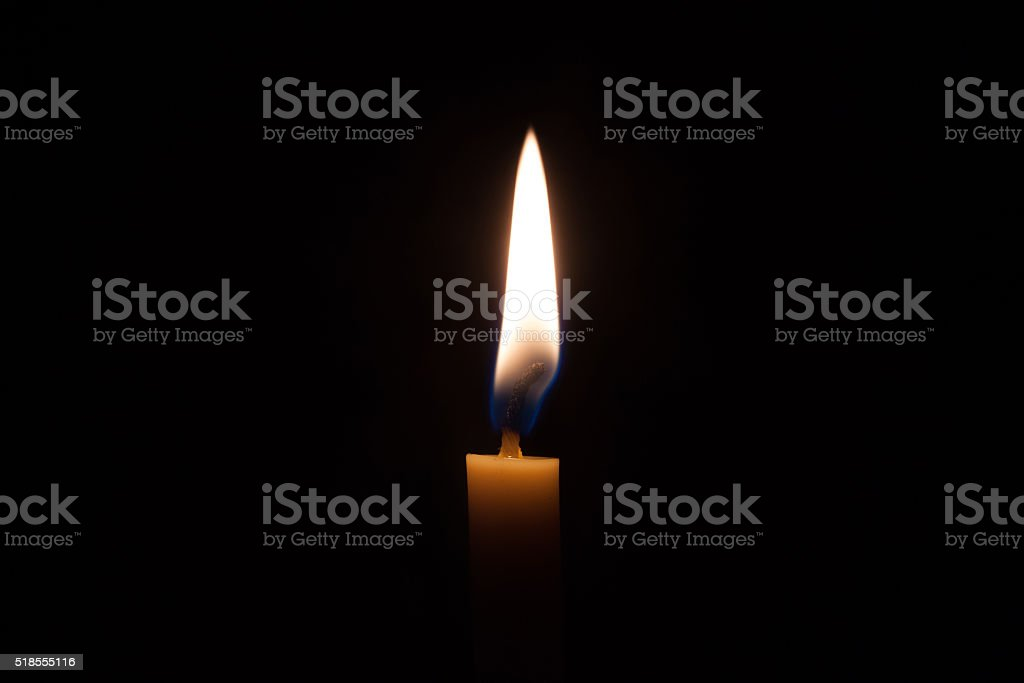 Fire and yellow candlelight royalty-free stock photo