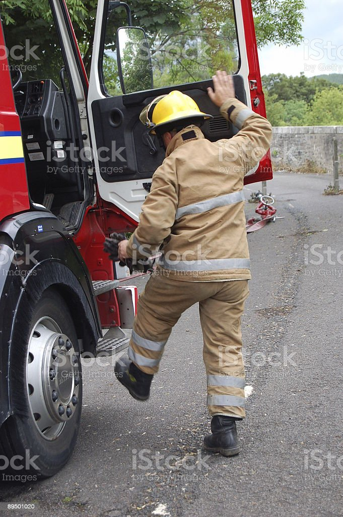 Fire Appliance Driver. royalty free stockfoto