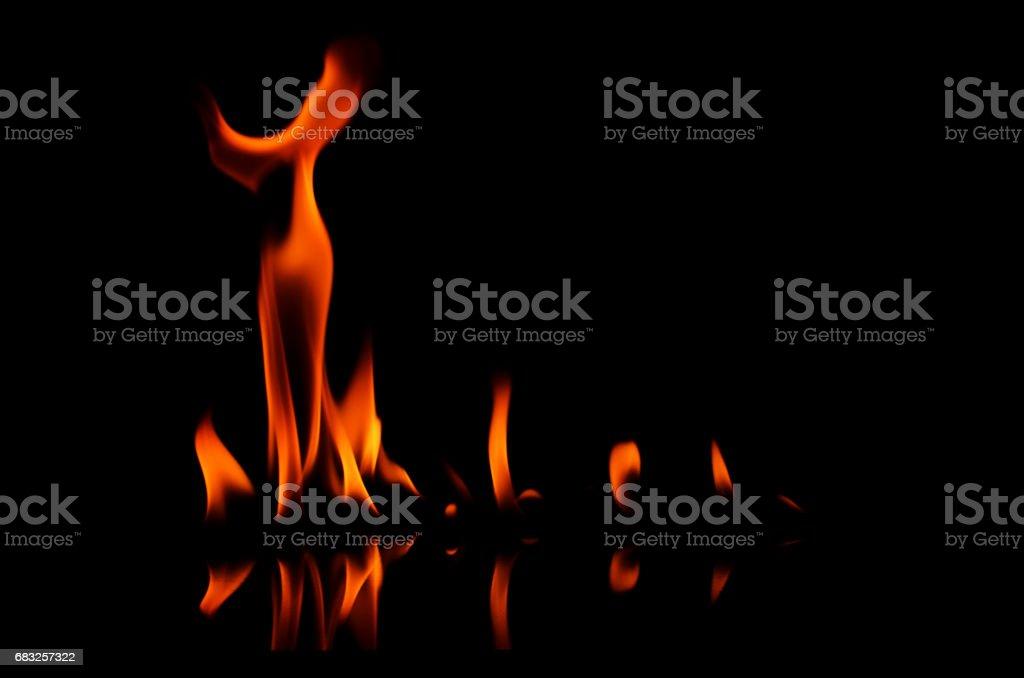 검은 배경에 화재 예술 텍스처 royalty-free 스톡 사진