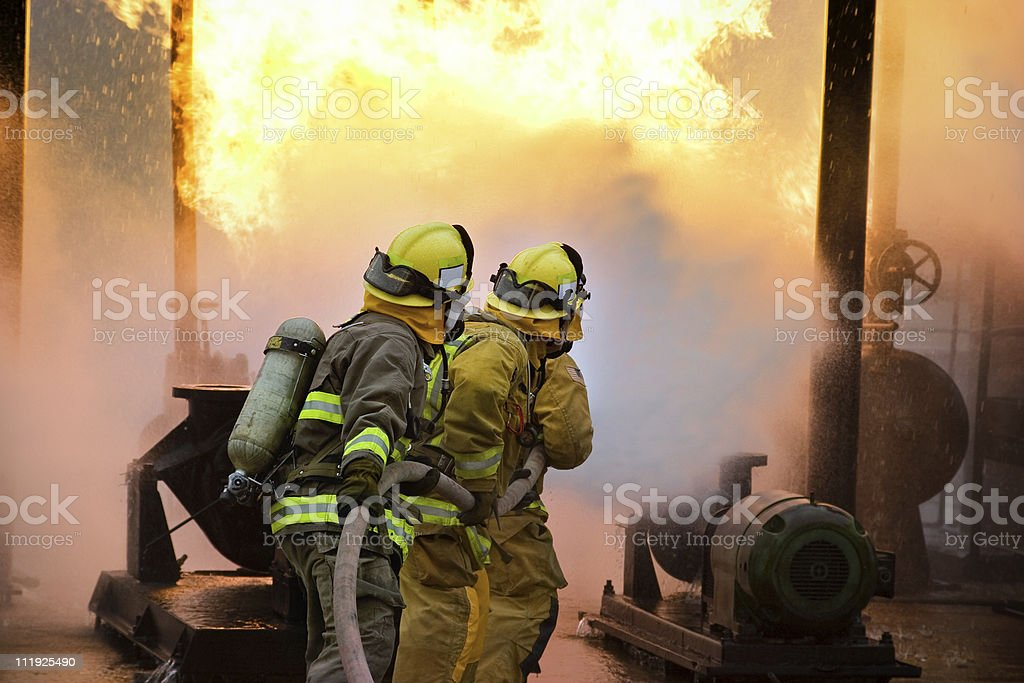 Fire Attack stock photo