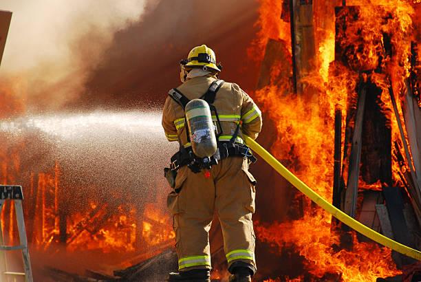 Fire Attack stock photo