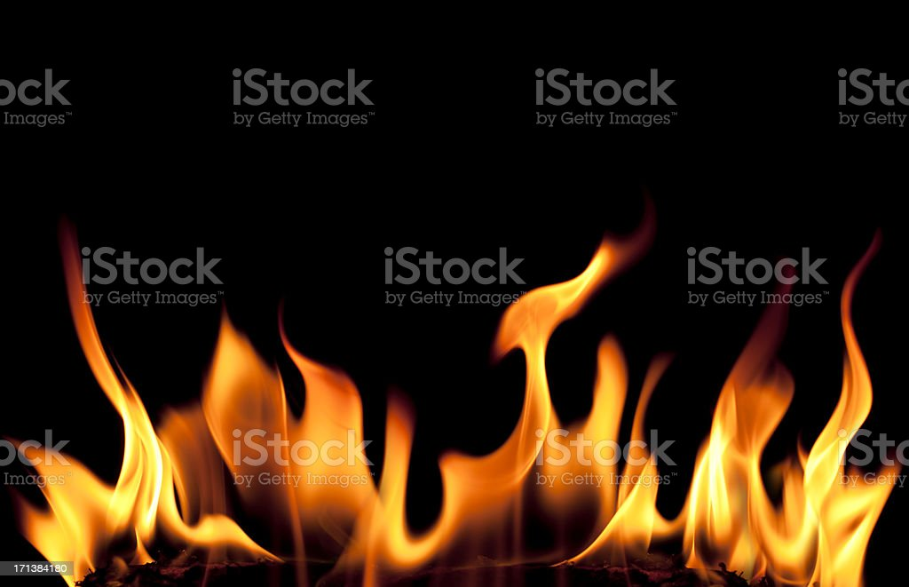 Fire Background stock photo