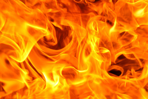 Fire Background Stock Photo - Download Image Now