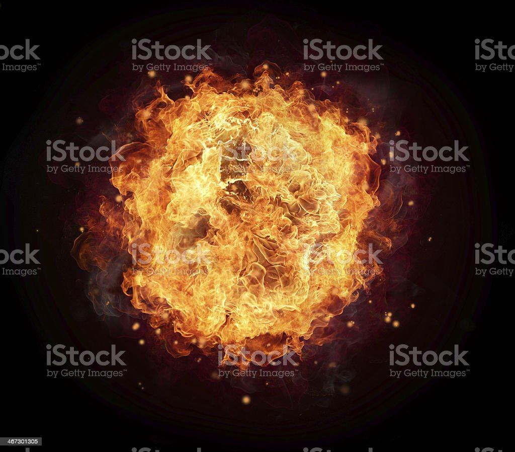 Fire ball stock photo