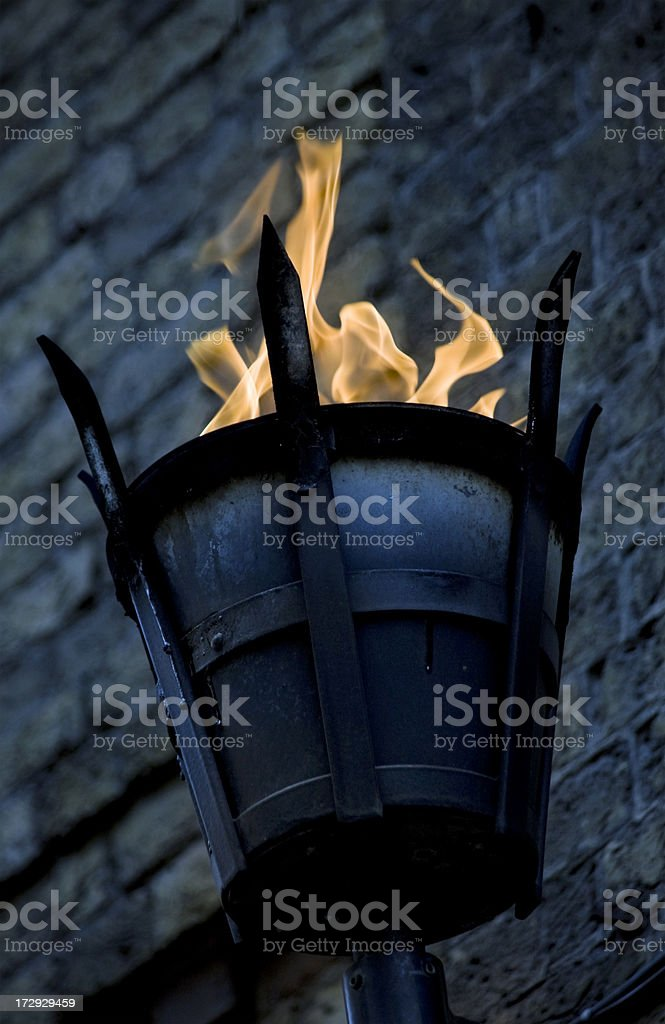Fire basket on a wall royalty-free stock photo