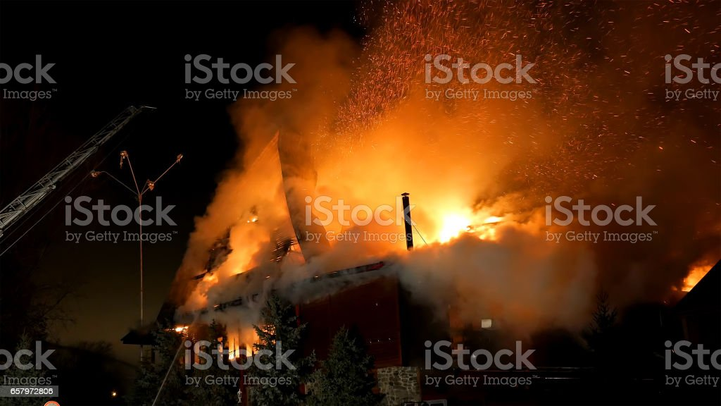 Fire. Blaze Inferno conflagration and combustion. – Foto