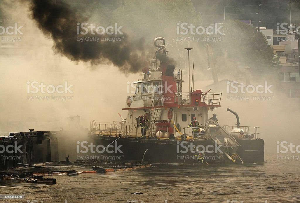 Fire Boat 'Chief Seattle' stock photo