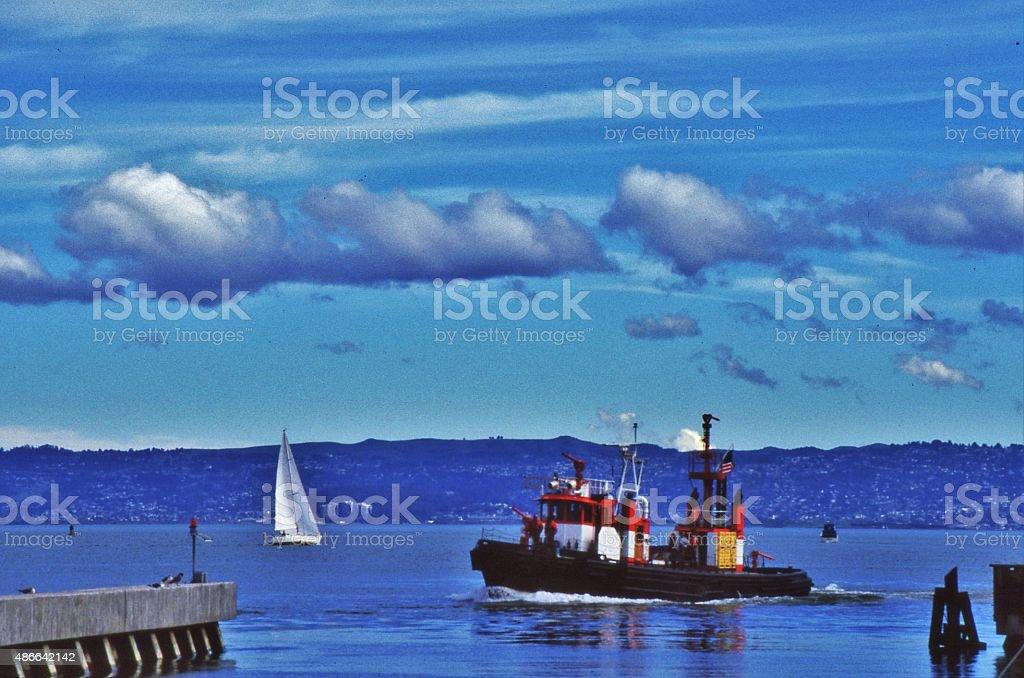Fire Boat stock photo