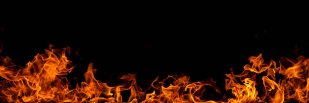 fire border - flame stock pictures, royalty-free photos & images