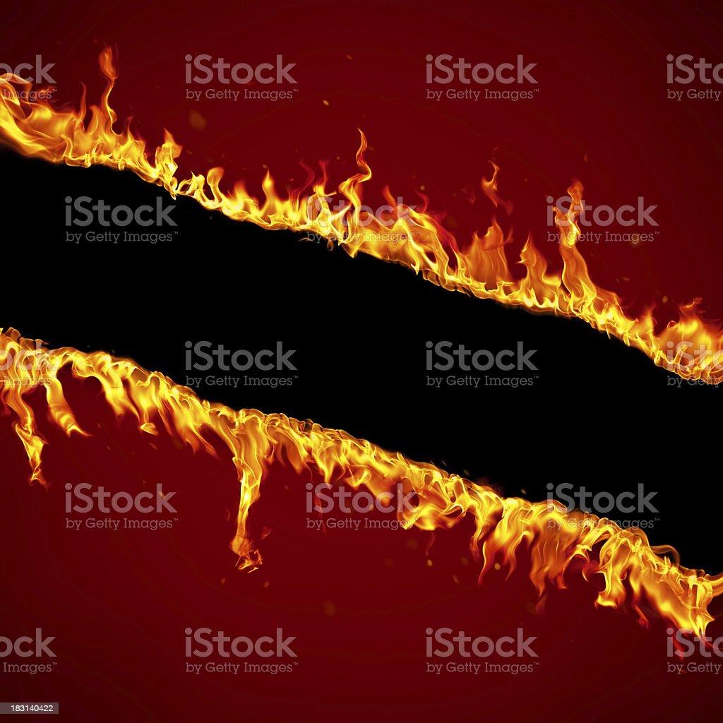 Fire border stock photo
