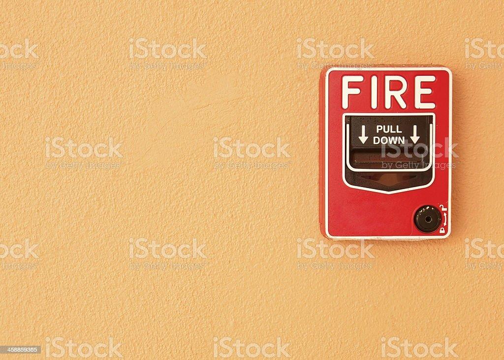 fire break glass stock photo