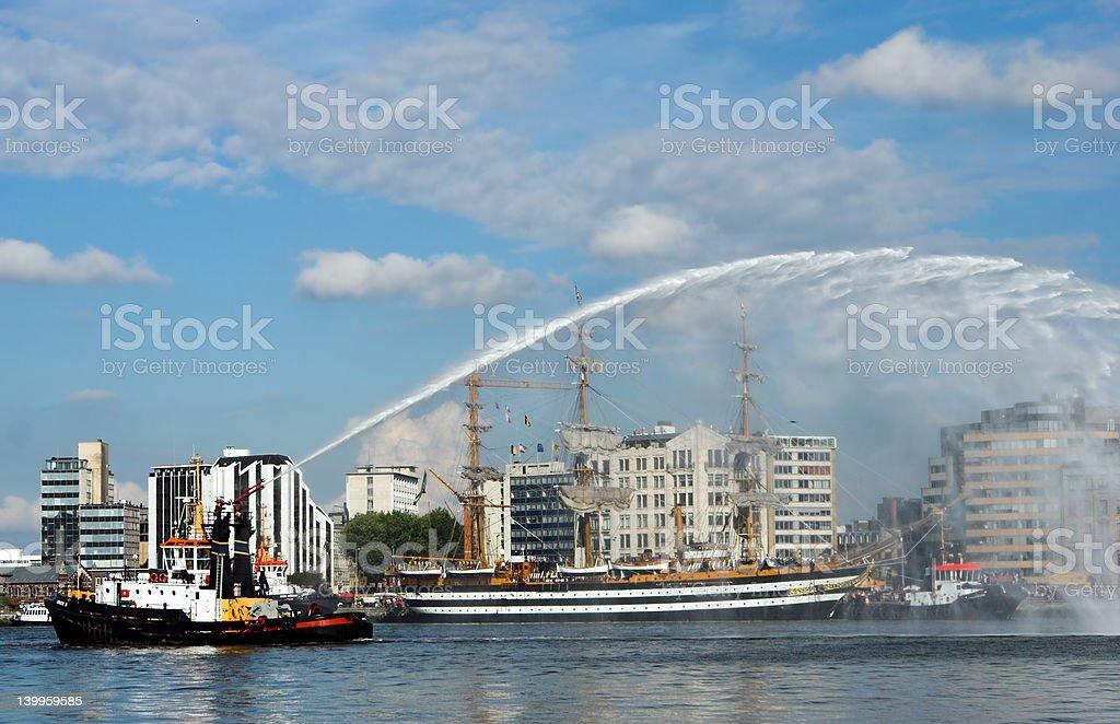 Fire brigade demo stock photo