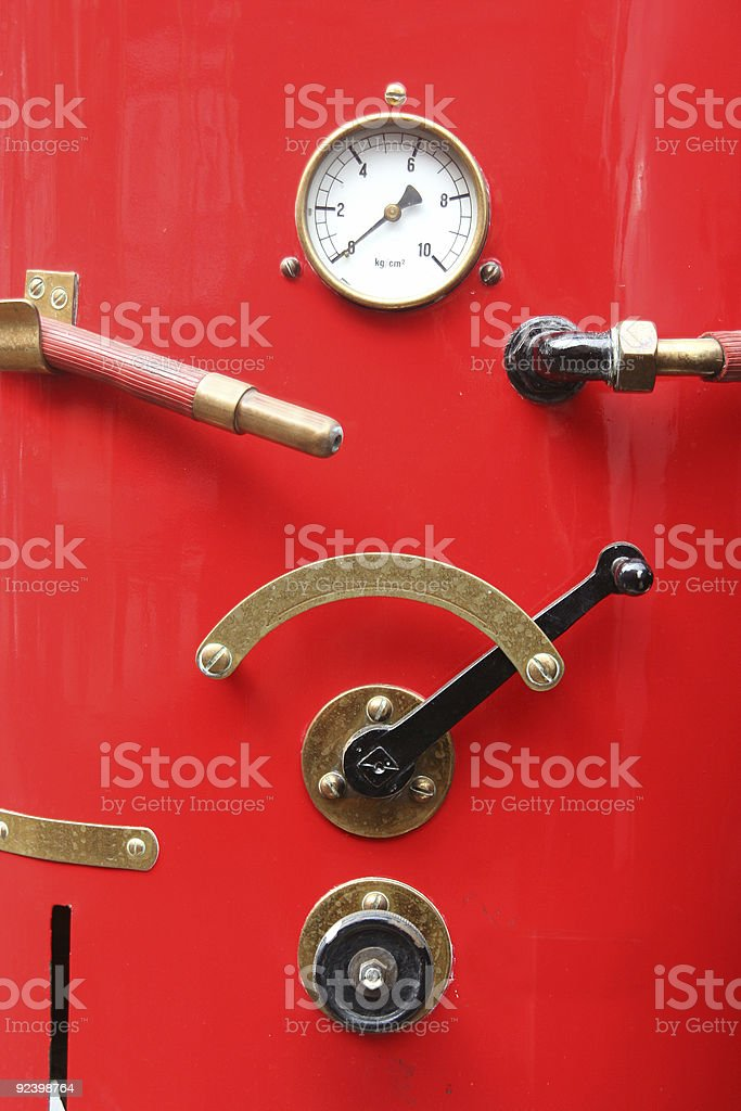 Fire Brigade Pressure Meter royalty-free stock photo