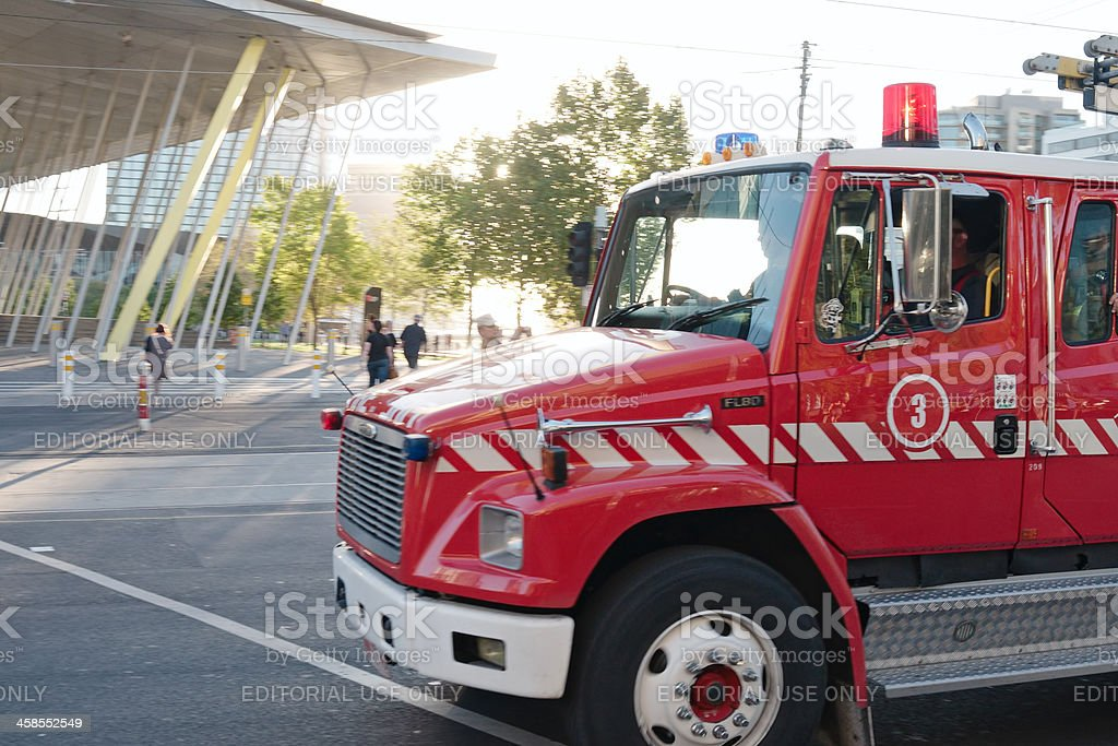 Fire brigade truck royalty-free stock photo