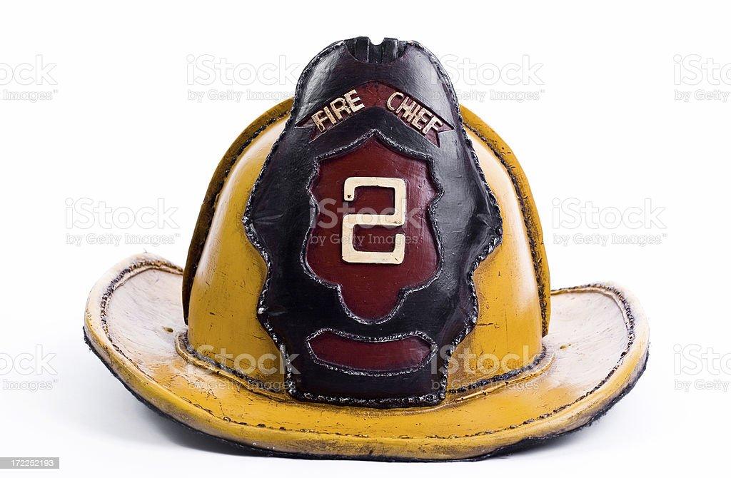 Fire chief helmet stock photo