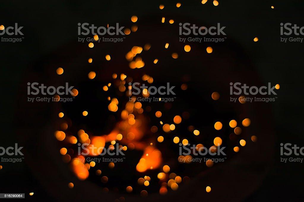 Fire Chrcoal stock photo