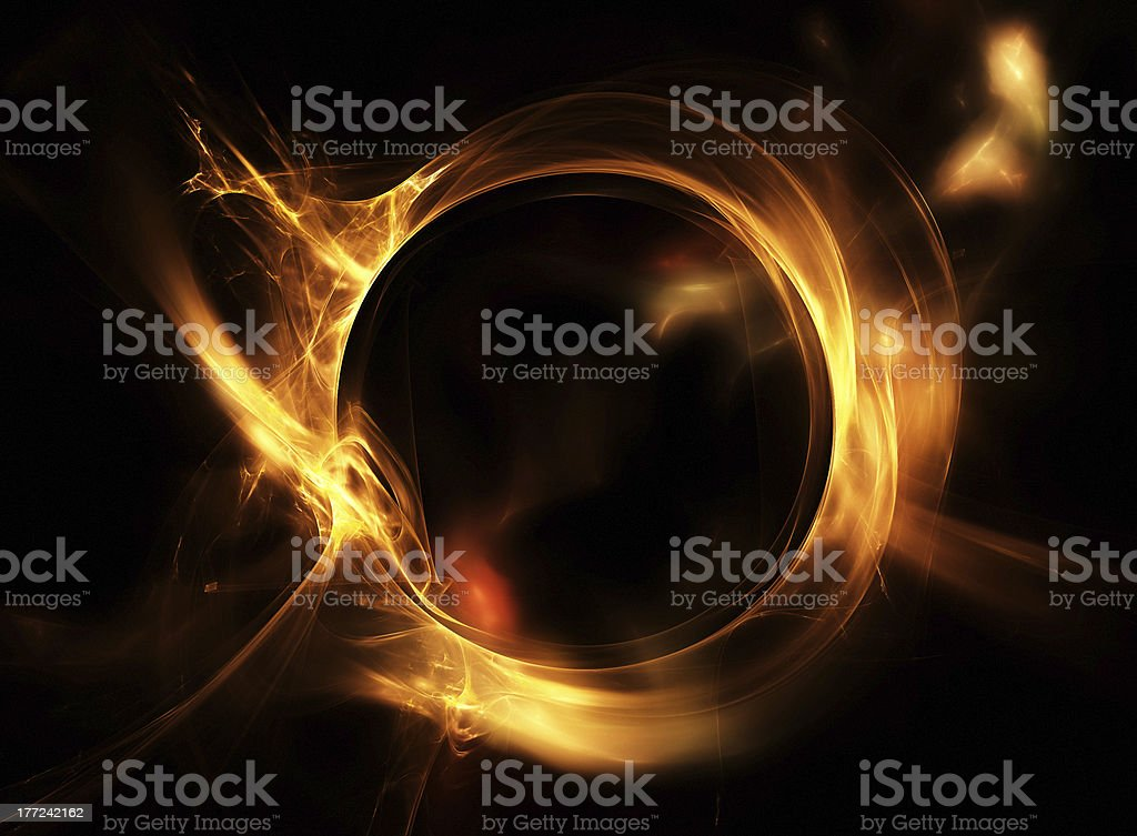 Fire circle royalty-free stock photo