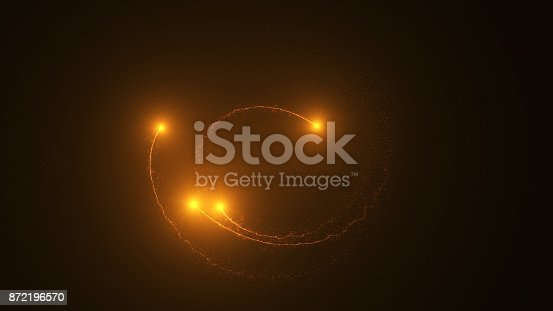 istock Fire comet flying. Shining lights in motion with small particles. 872196570