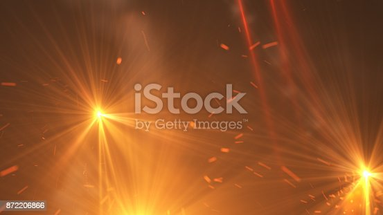 istock Fire comet flying. Shining lights in motion with small particles. 872206866
