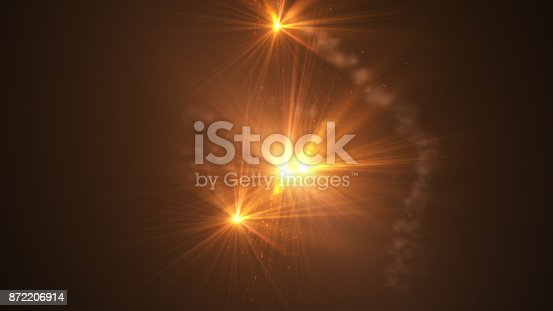 istock Fire comet flying. Shining lights in motion with small particles. 872206914