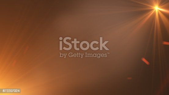 istock Fire comet flying. Shining lights in motion with small particles. 872207024