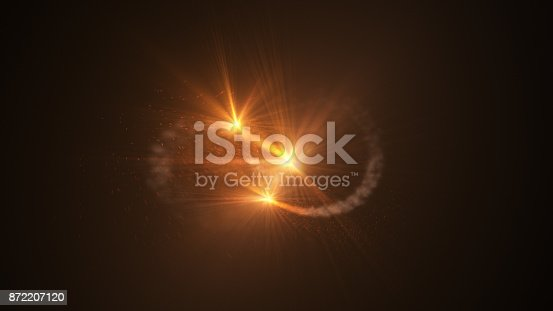 istock Fire comet flying. Shining lights in motion with small particles. 872207120