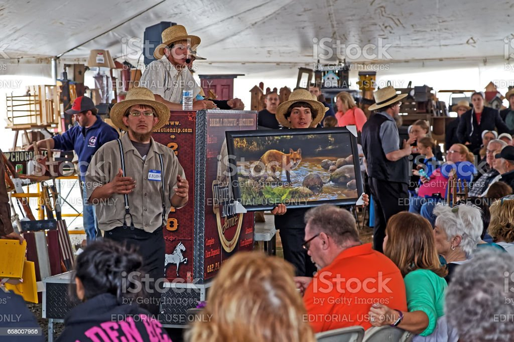Fire Company Benefit Auction in Lancaster County stock photo