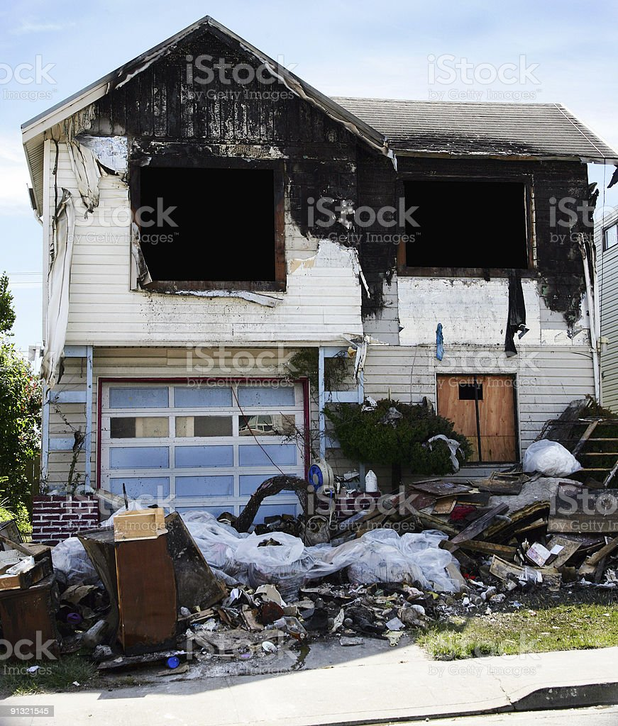 Fire Damage royalty-free stock photo