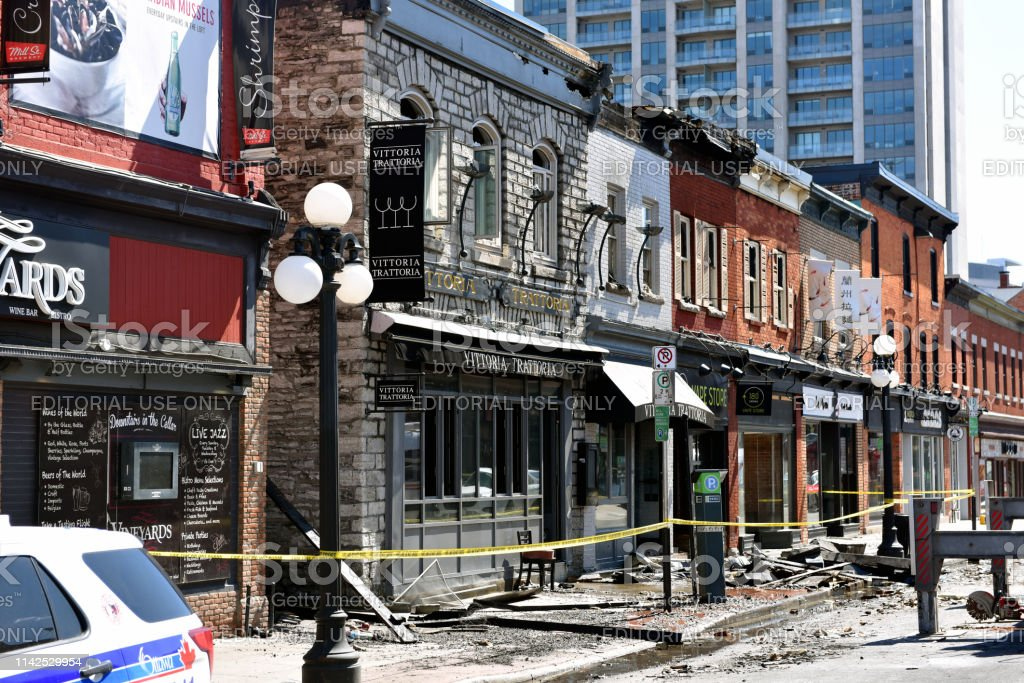 William Street in the Byward Market still closed after Vittoria...