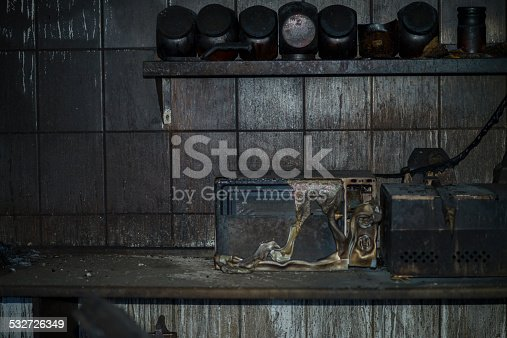istock Fire damaged kitchen 532726349