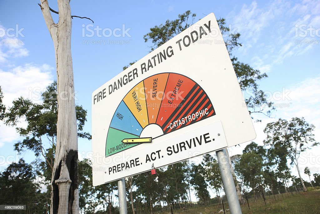Fire Danger stock photo