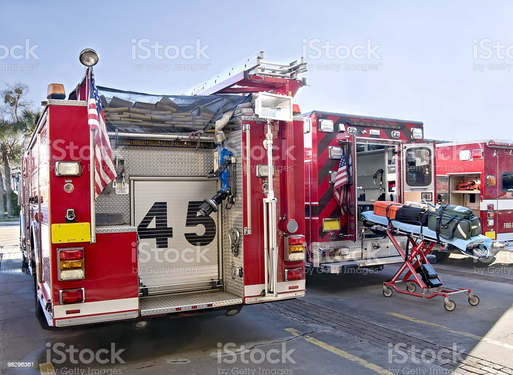 Fire Department Emergency Equipment royalty-free stock photo