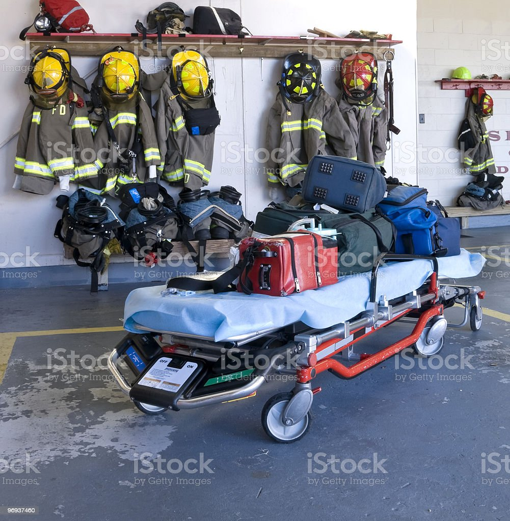 Fire Department Equipment royalty-free stock photo