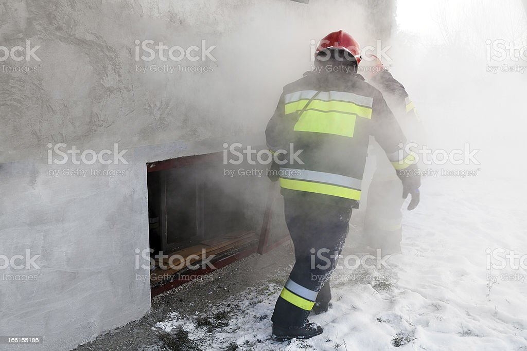 Fire Department in action royalty-free stock photo