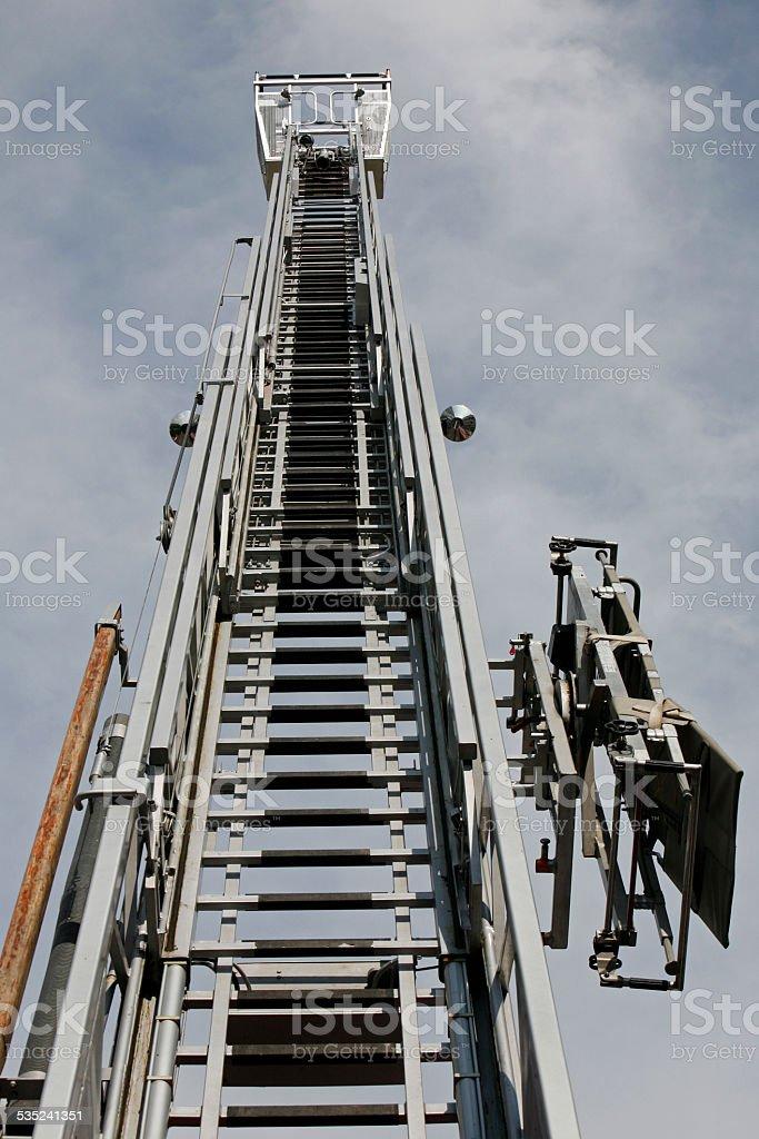 Fire department ladder stock photo