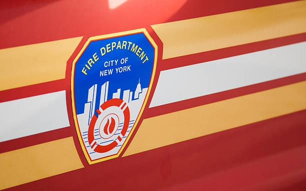 Fire department New York emblem stock photo