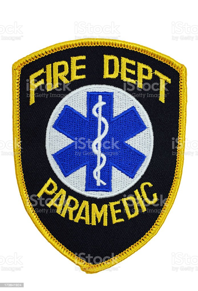 Fire Department Paramedic Patch stock photo