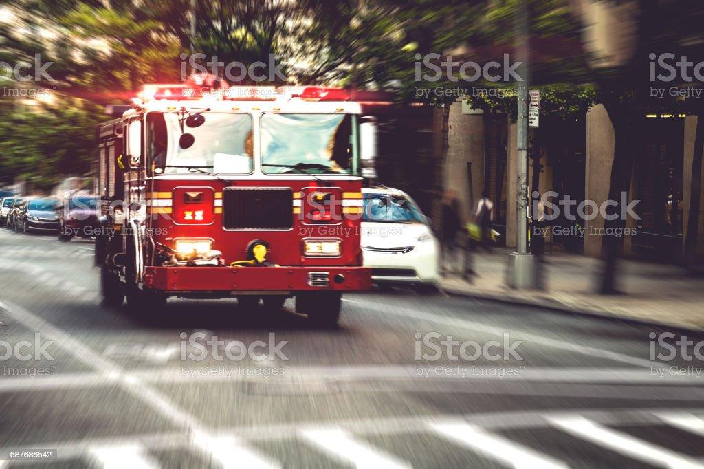 Brandkåren lastbil i nödsituation bildbanksfoto