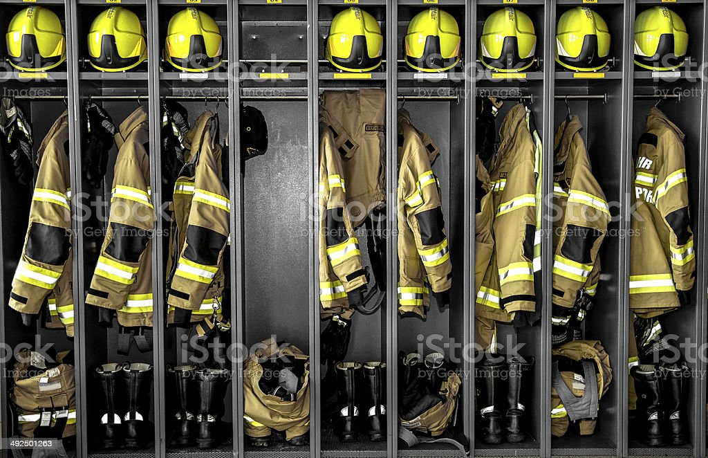 Fire Department Uniforms stock photo