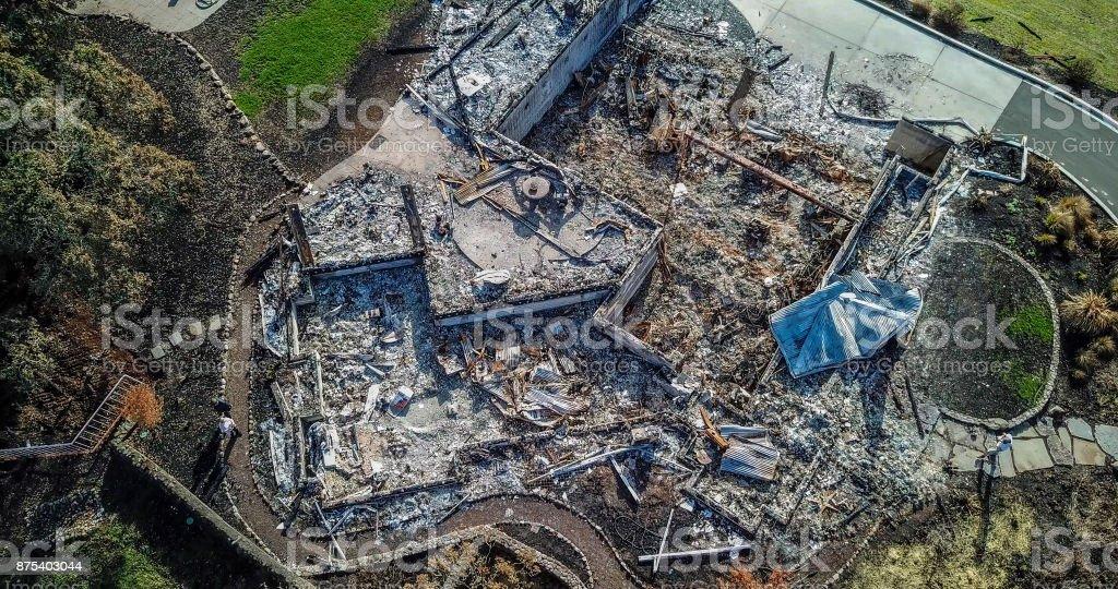 Fire Devastation stock photo