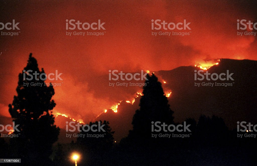 Fire Down the Mountain royalty-free stock photo