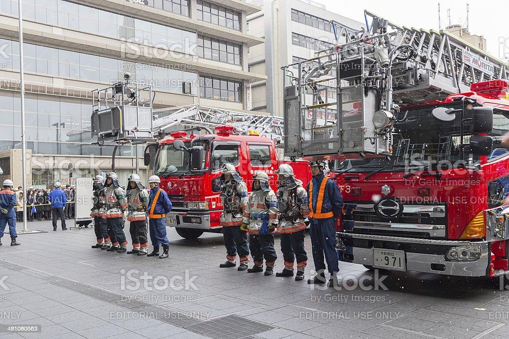 火災訓練を義務付けられて京都、日本 ストックフォト