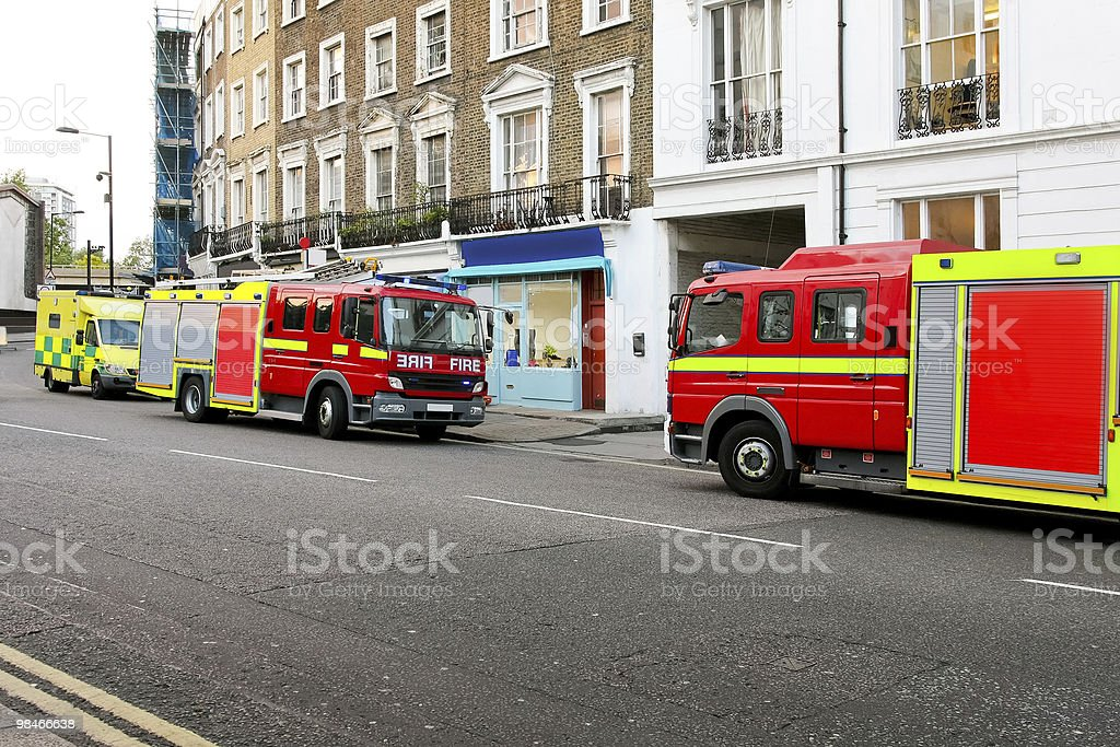 Incendio emergenza foto stock royalty-free