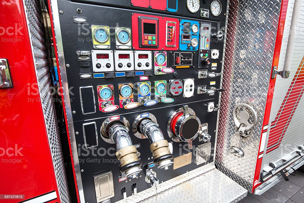 Fire engine detail stock photo