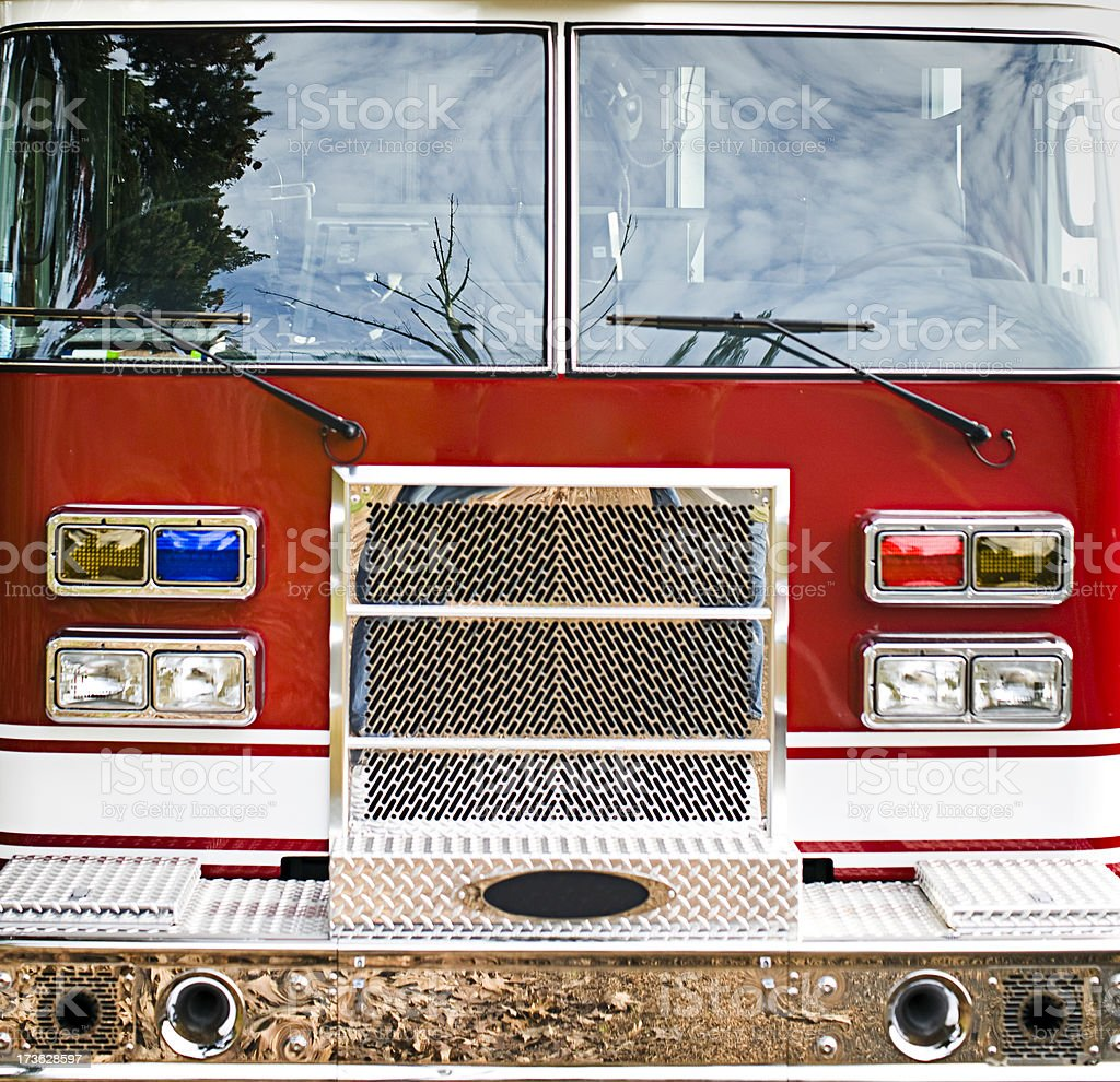 Fire Engine Front View royalty-free stock photo