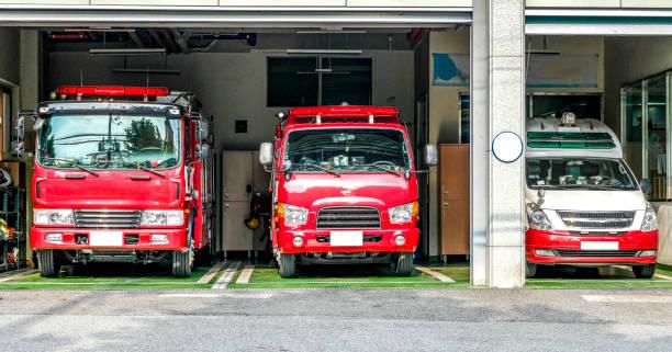 fire engine - boston marathon stock photos and pictures