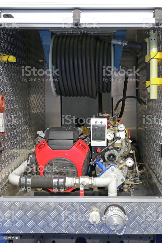 Fire Engine Pump stock photo