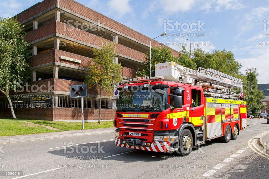 Fire Engine - Scania stock photo