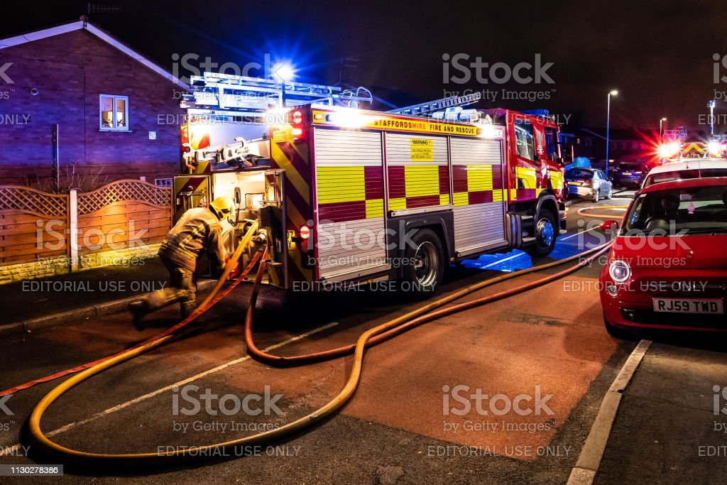 Meir Hay, Stoke on Trent, Staffordshire - 16th February 2019 - Fire...