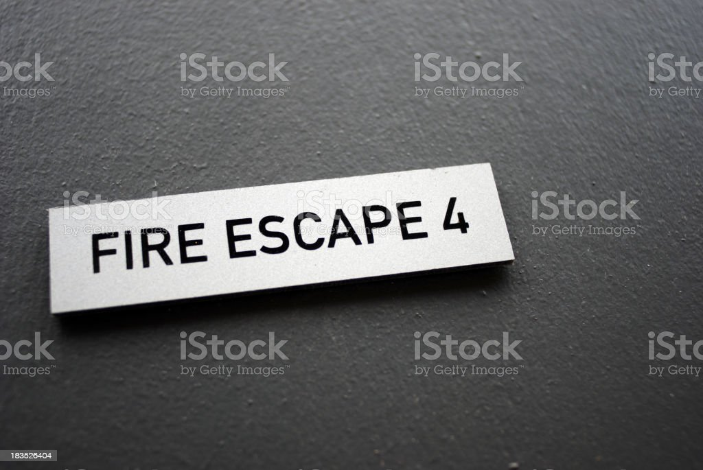 Fire escape 4 sign royalty-free stock photo